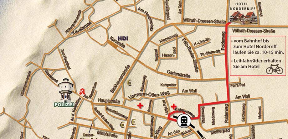 Die anreise ins wellness und design hotel norderriff auf for Designhotel langeoog