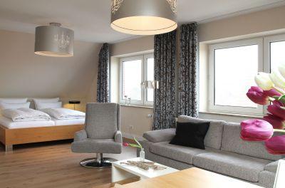... in Kombination mit dem angrenzenden Doppelzimmer zum Penthouse für 4 Personen wird