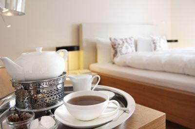 Auf allen unseren Zimmern und Suiten bieten wir unseren Gästen eine Teestation