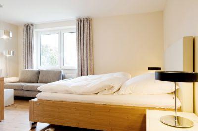 Unser Einzelzimmer ist sowohl für Singles als auch für Paare geeignet (Doppelbett vorhanden) ...